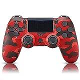 Mando Inalámbrico Para Ps4,inalámbrico Gamepad Controlador De Doble Vibración De Alto Compatible Con Playstation 4/ps4 Slim/ps4 Pro (rojo Camuflaje)