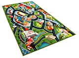 Kids Carpet Playmat Rug - Fun Carpet City Map for Hot Wheels Track Racing and Toys - Floor Mats for Cars for Toddler Boys -Bedroom, Playroom, Living Room Game Play Mat for Little Children