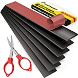 Magnetic Strips with Adhesive Backing - Magnetic Tape for Crafts - Tool and Knife Magnet Strips for Kitchen, Garage and Garden - Adhesive Magnetic Tool Holder Strip for Wall