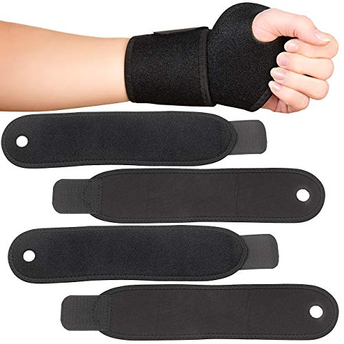 PEARL sports Fitnessbandage: 4er-Set Handgelenk-Bandagen für Kraftsport, aus Neopren, Universalgr. (Handgelenk-Stützbandage)