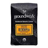 Groundwork Organic Single Origin Whole Bean Medium Roast Coffee, Ethiopia, 12 oz