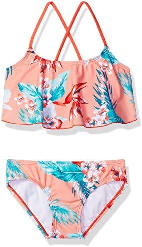Kanu Surf Girls Toddler Flounce Bikini Beach Sport 2 Piece Swimsuit Alania Floral Coral 4T product image