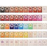 Dewel Polvo en Pigmento de Mica 50 * 5g para teñir Resina Epoxi,Hacer Slimo, Jabón,Bombas de Baño, Maquillaje de Halloween y Navidad, Uñas,Cosmético.etc