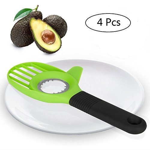 4 PCS Avocado Slicer Avocado Saver 3 In 1 Tool For Avocado Peeler Perfect Avocado Slicer, Avocado Hugger Best Kitchen Gadgets For Avocado Saver Masher  Keeper Ues