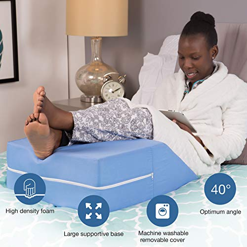 MABIS DMI Healthcare Ortho Wedge Pillow, Blue