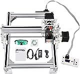 ETE ETMATE DIY CNC Laser Engraver Kits, USB Upgraded Impresora de escritorio de 2 ejes con 17 x 20 cm (6.6 'x7.8') Tamaño de trabajo Carving Grabado Máquina de cortar para cuero, madera y plástico