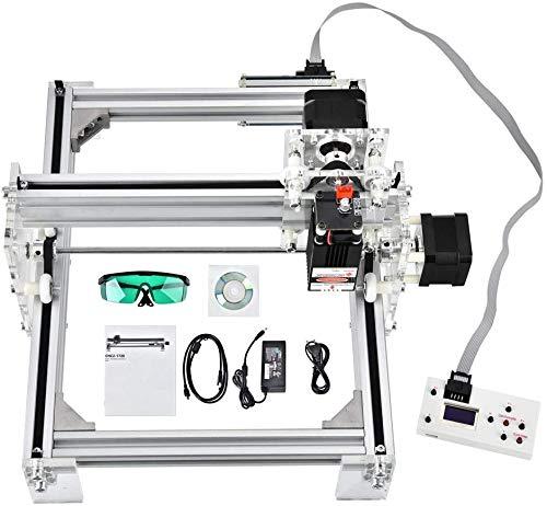 """ETE ETMATE DIY CNC Laser Engraver Kits, USB Upgraded Impresora de escritorio de 2 ejes con 17 x 20 cm (6.6 \""""x7.8\"""") Tamaño de trabajo Carving Grabado Máquina de cortar para cuero, madera y plástico"""