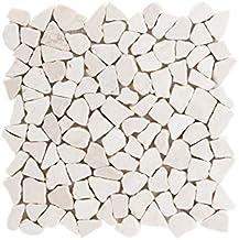 esagono bianco opaco Mosaik MOS11A-0111/_f 10 tappetini a mosaico in ceramica