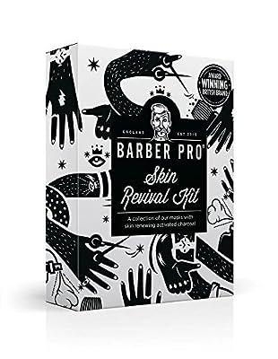 BARBER PRO Skin Revival Kit, Including Sheet Mask, Under Eye Mask, Foaming Mask & Face Putty (4 Masks) by BARBER PRO