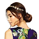 JoJo & Lin Vintage Gold Tone Coin Head Chain Headpiece Hair Accessories Jewelry