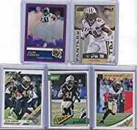 Alvin Kamara New Orleans Saints Assorted Football Cards 5 Card Lot