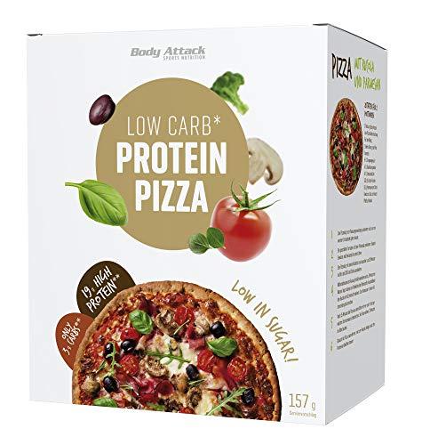 Body Attack, Protein Low Carb Pizza Backmischung - High Protein mit 38g Eiweiss und nur 5,9g Kohlenhydrate, Hergestellt in Deutschland inkl. gratis Rezept auf der Verp. sehr lecker 1er Pack (1x 157g)