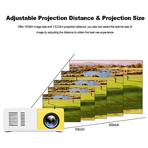 Docooler Mini LED Proyector, Proyector LCD portátil, 400 lúmenes 720P / 1080P HD AV, Ranura para Tarjeta TF del proyector, con Control Remoto miniatura