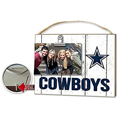 KH Sports Dallas Cowboys Weathered Clip-It Photo Frame