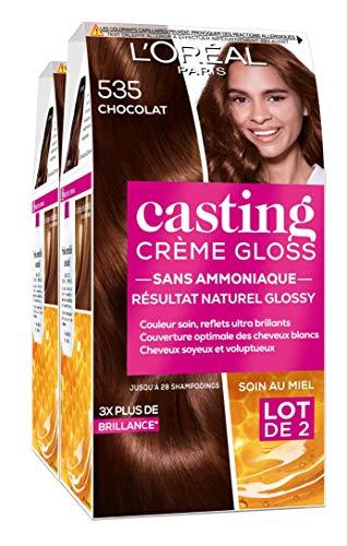 L'Oréal Paris Casting Crème Gloss Coloration Ton Sur Ton Sans Ammoniaque 5.35 Chocolat - Lot de 2