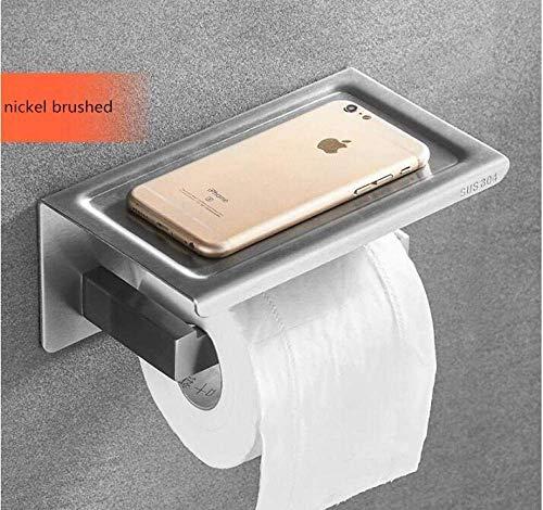 Papierhandtuchhalter Gewerbliche Toilettenpapierhalter Toilettenpapierhalter Edelstahl Badzubehör Tissue Rollhalter mit Telefonablage