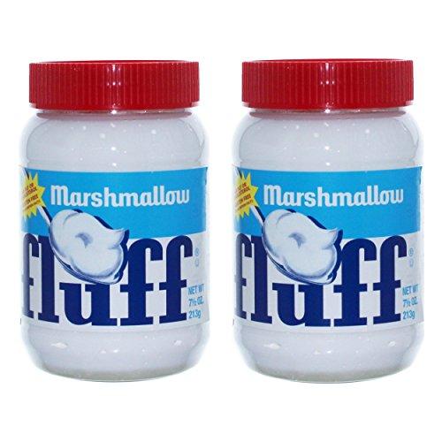 Fluff Marshmallow Naturell 2er Set, Brot Aufstrich, Brotaufstrich, Schaumzucker, Vanille, 213 g, 42670
