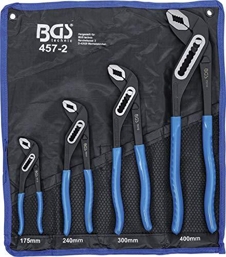 BGS 457-2 | Wasserpumpenzangen-Satz | 4-tlg. | 175-240-300-400 mm | rutschhemmend | Klemmschutz | Rohrzange/Pumpenzange
