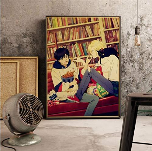 Simayi Japanischer Anime Bananenfisch Retro Art Decor Filmmalerei Wohnkultur Wanddekorationen Cartoon Leinwand Wohnzimmer Poster 50X70Cm Cdl-344