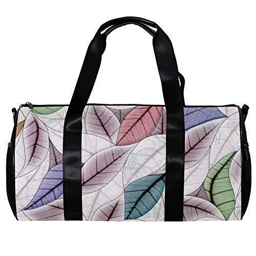 Bolsa de deporte redonda con correa de hombro desmontable, diseño vintage colorido de azulejos de cerámica deja, bolsa de entrenamiento para mujeres y hombres