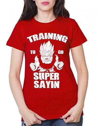 Train Super Sayin T-Shirt Goku Dragon Master Son Ballon Vegeta Turtle Roshi DB - Rouge - M