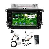 EVGATSAUTO Estéreo para Coche, Reproductor de DVD para Coche 2DIN de 7 Pulgadas, navegación GPS, Pantalla táctil Apta para Altea/Toledo/Leon AB/Altea XL AB/Alhambra AB
