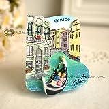 Atracciones Turismo Conmemorativo Creativo 3D Estéreo Refrigerador Pegatinas Magnéticas Pegatinas Venecia Italia En