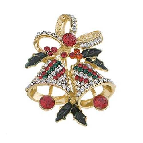 YAZILIND Christmas Bell Brooch Pins Women Girls Breastpin Corsage Xmas Jewellery Gift(Colour 2)