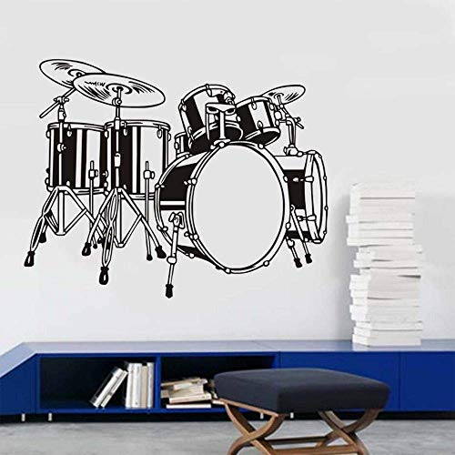 Muursticker Drum Set Muursticker Kinderkamer Slaapkamer Muurdecoratie Vinyl Verwijderbare Lijm Muurstickers Behang Sticker S Home Decoraties 74 * 58Cm