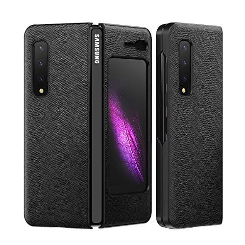 Hülle® Texturas Cuero Funda Plegable Anti Vibración y Anti Caída,Agarre Cómodo Carcasa de Protección Completa Compatible para Samsung Galaxy Fold 5G/Samsung Galaxy Fold (2)