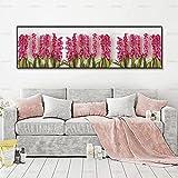 Póster de arte imagen de arte decorativo pintura de arte de pared impresión de flores pintura de pared para sala de estar pintura de lienzo 30x90 cm sin marco