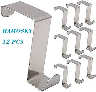 Hamosky ドアフック Z型 ステンレス ドアハンガー 扉 ドア用 フック ハンガーホルダー 取り付け簡単 12個セット (3x4.5cmx6cm)