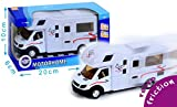 MGM025502- Vehículo en Miniatura con Sistema de retrofricción, Modelo a Escala1/48, Caravana de plástico y Metal de diseño Retro,17cm, 20x 10x 6cm