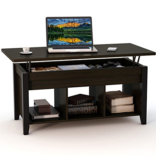 Tribesigns Lift Top Coffee Table with Hidden Storage Compartment and Lower Shelf for Living Room