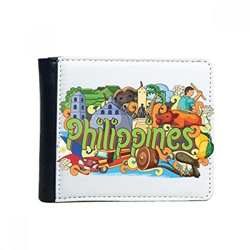 DIYthinker Camiguen Mango Philippine Graffiti Flip Bifold Kunstleder-Mappen-Multifunktions-Karten-Geldbeutel-Geschenk Mehrfarbig