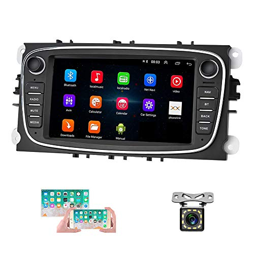 Android autoradio für Ford GPS Navigation camecho 7 Zoll kapazitive Touchscreen Auto Stereo Player WiFi Bluetooth fm empfänger dual USB für Ford Focus Mondeo c-max s-max Galaxy ii kuga