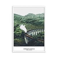 フォレストポスターとプリント風景ポスタースカンジナビアウォールアートキャンバス絵画モダンな壁の写真 (Color : A, Size : 20x30cm No Frame)