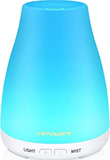 URPOWER 2nd Version Essential Oil Diffuser Aroma Essential Oil Cool Mist Humidifier with Adjustable Mist Mode,Waterless Au...
