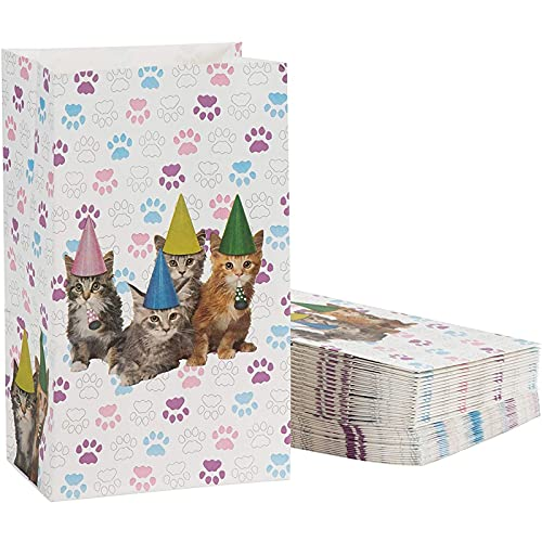 Juvale Cat Party Favor Bags (36 Pack)