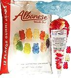 Gummi Gummy Bears Albanese 12 Flavors-Bulk Candy 5lb Bag With Red Wild Cherry And White Strawberry Banana Gourmet Kruise Signature Gift Bag 11 OZ (NET WT 5 LBS.11OZ) 2 Item Bundle