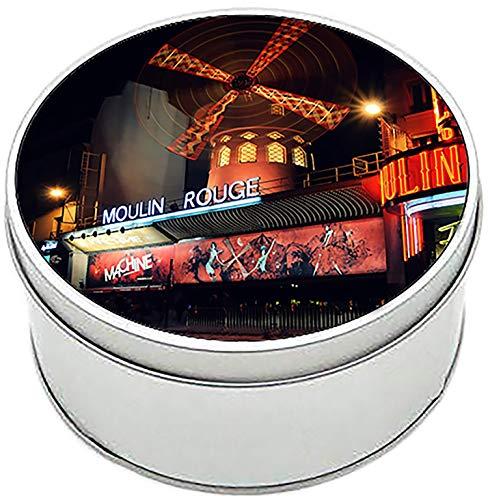 MasTazas Moulin Rouge Paris Francia France Boîte Métallique Ronde en Fer-Blanc Round Metal Tin Box