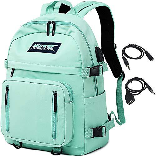 HASAGEI Mochila Escolares Juveniles para 15.6   Portátil Unisex de Carga USB Backpack