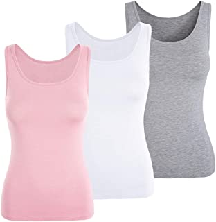 f6a176568681d TAIPOVE Women Stretchy Built-in Padded Bra Camisole Active Wide Strap Tank  Tops Athletic Vest Undershirts 1 3 Pack