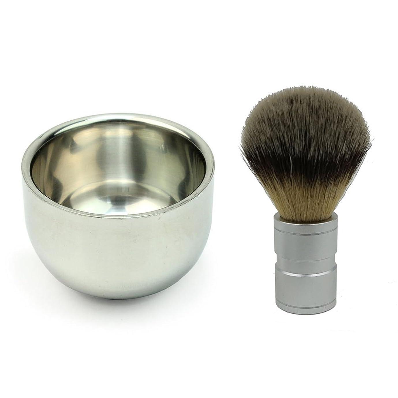 反論許される反対にROSENICE ステンレス鋼剃るボウル マグとアナグマ毛シェービング ブラシ