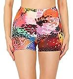 Merry Style Leggins Cortos Malla Deportiva Short Mujer MS10-407(Multicolor Para presionar,S)