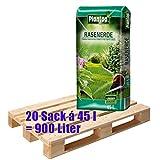 Rasenerde Plantop 20 Sack je 45 Liter = 900 Liter Qualitäts-Rasensubstrat aus Bayern