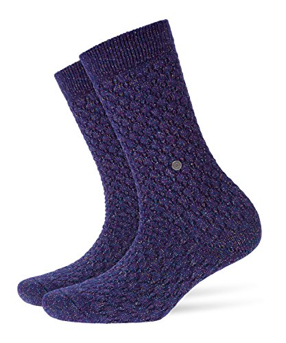 BURLINGTON Damen Socken Boot, Viskosemischung, 1 Paar, Blau (Blue Print 6005), Größe: 36-41