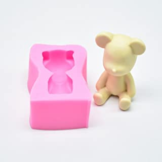 Eorta 3D Cute Bear Silicone Fondant Mould Cake Mold Chocolate Baking Cookie Cutter Mold Sugarcraft Decor 3 Types for Choice