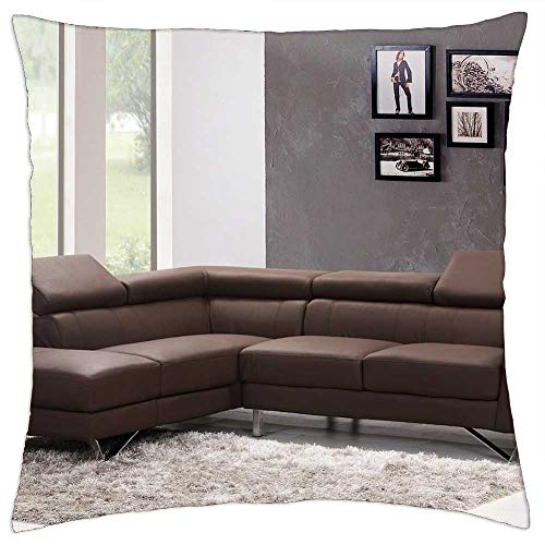 LESGAULEST Throw Pillow Cover (16x16 inch) - Sofa Couch Living Room Home Interior Carpet
