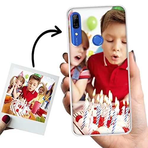 Phone Case Trends Funda Huawei P Smart Z Personalizada con tu Foto o Texto – Carcasa Móvil Personalizable de Gel Flexible - Funda Transparente, Antigolpes y de Silicona - Impresión Directa en Funda